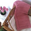OB Design Crochet Baby Blanket Blush