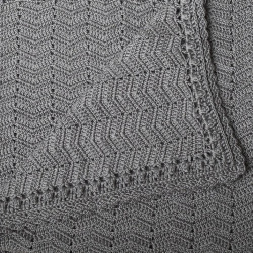OB Design Crochet Baby Blanket Grey
