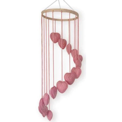 OB Design Heart Mobile Pink