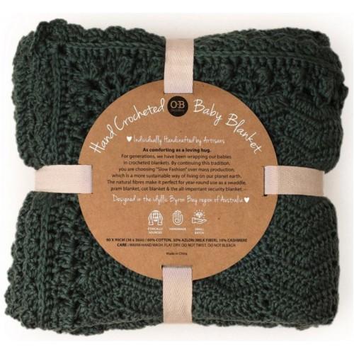 OB Design Crochet Baby Blanket Sage