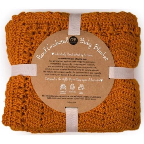OB Design Crochet Baby Blanket Tumeric