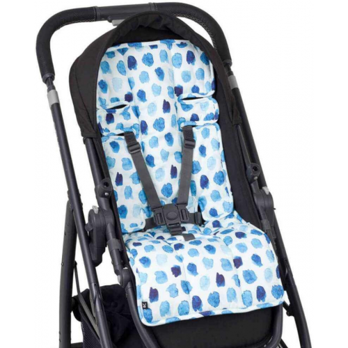 Outlook Cotton Pram Liner Indigo Rain