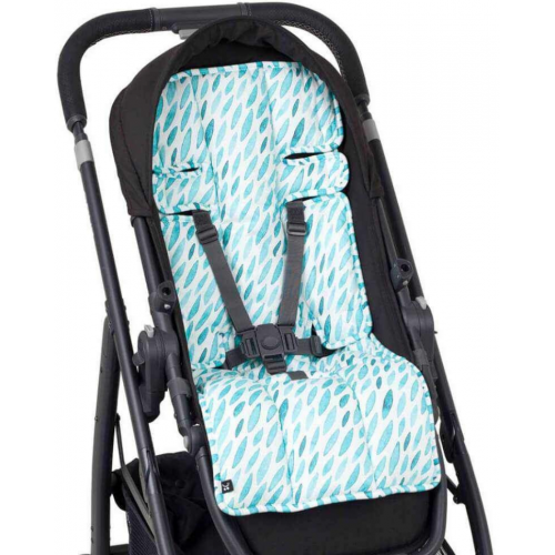 Outlook Cotton Pram Liner Teal Drops