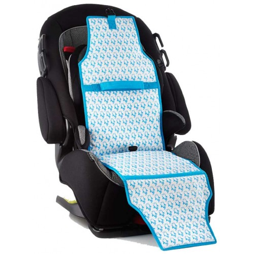 Cool Carats Car Seat Cooler Blue Penguins