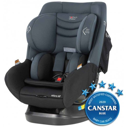 Mothers Choice Adore AP Titanium Grey + Car Seat Fitting Voucher + Supermat