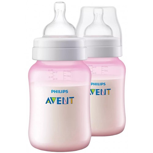 Avent Anti-Colic 260ml Bottle Twin Pack Pink