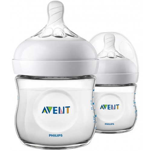 Avent Natural 125ml Baby Bottle Twin Pack