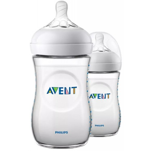 Avent Natural 260ml Baby Bottle Twin Pack