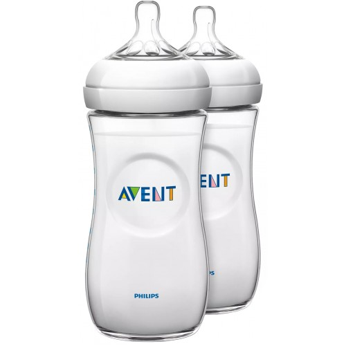 Avent Natural 330ml Baby Bottle Twin Pack