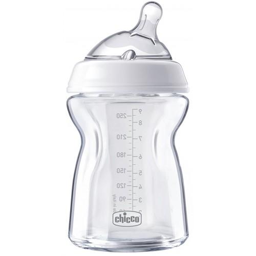 Chicco 250ml 0m+ Natural Feeling Glass Baby Bottle