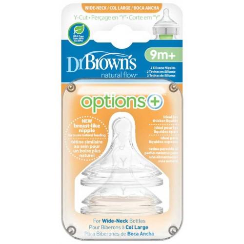 Dr Browns Teats Y Cut Wide Neck Options Plus