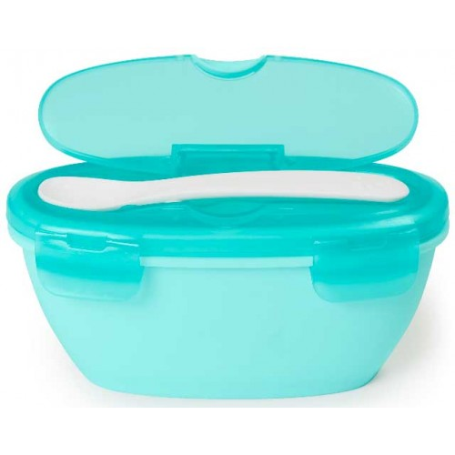 Skip Hop Travel Bowl and Spoon Teal