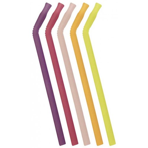 Bbox Silicone Straw 5 Pack Very Berry