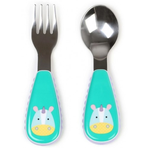 Skip Hop Zootensils Fork and Spoon Unicorn