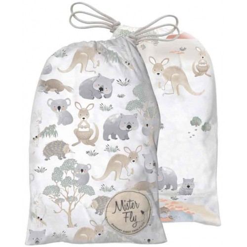 Mister Fly Bassinet Sheets Australiana