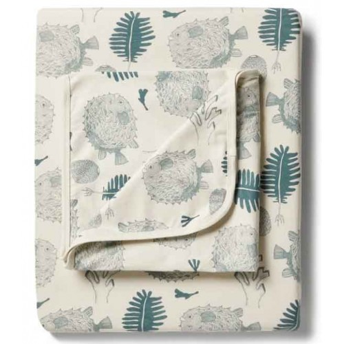 Wilson and Frenchy Bassinet Sheet Little Ocean
