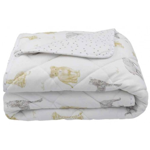 Living Textiles Quilted Cot Comforter Savanna