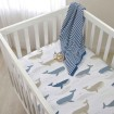 Lolli Living Cot Fitted Sheet Whales