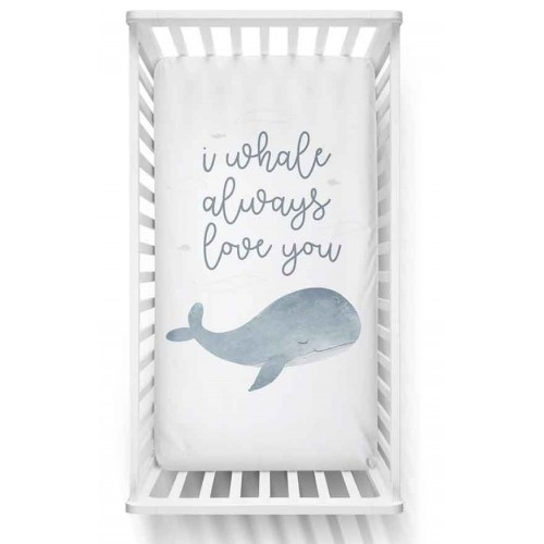 Lolli Living Fitted Sheet Whale Love You