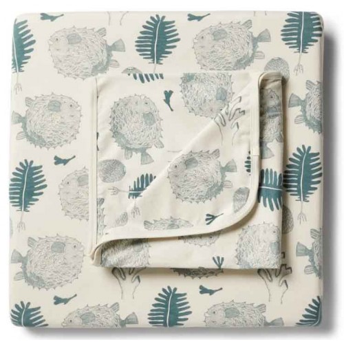 Wilson and Frenchy Cot Sheet Little Ocean