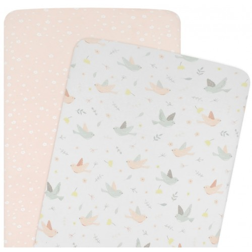 Living Textiles Co-Sleeper Fitted Sheets Ava