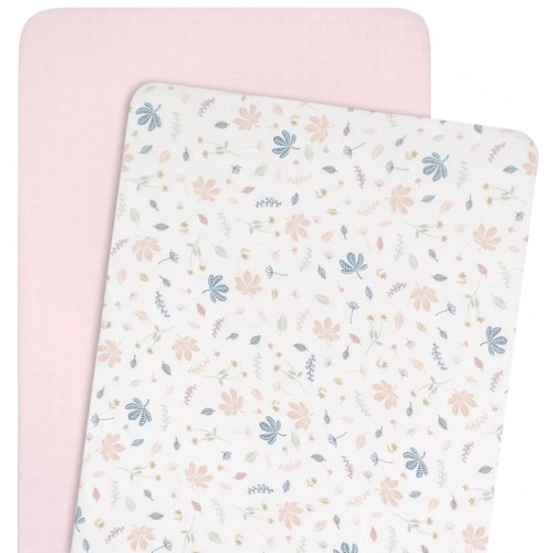 Living Textiles Co-Sleeper Fitted Sheets Botanical