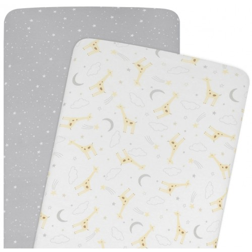 Living Textiles Co-Sleeper Fitted Sheets Noah