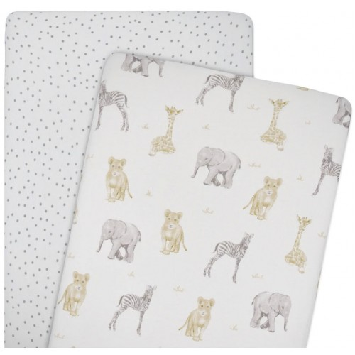 Living Textiles Co-Sleeper Fitted Sheets Savanna