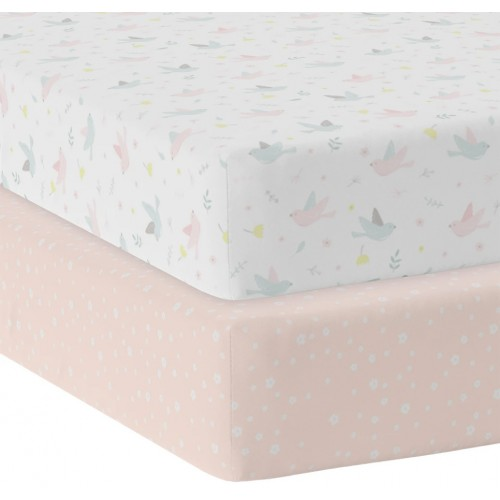 Living Textiles Cot Fitted Sheets Ava