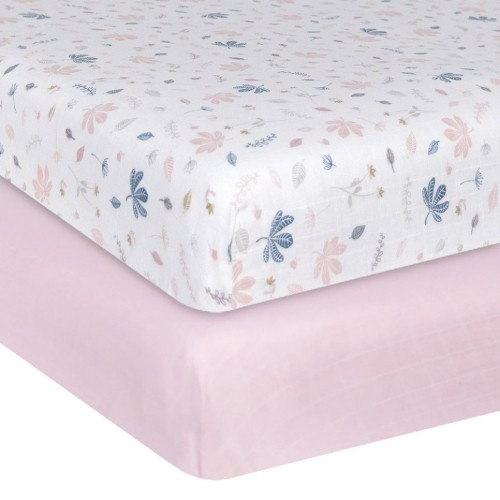 Living Textiles Cot Fitted Sheets Botanical