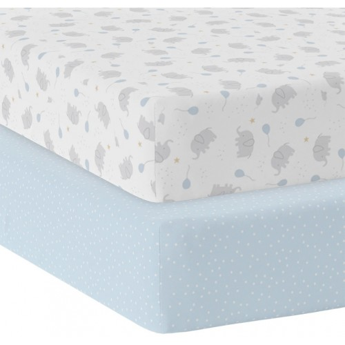 Living Textiles Cot Fitted Sheets Mason