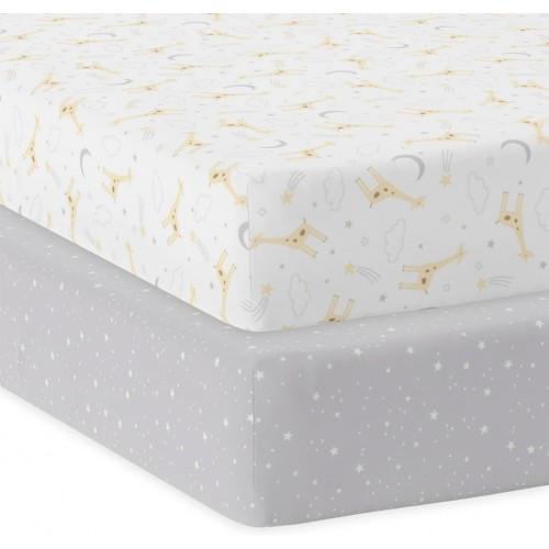 Living Textiles Cot Fitted Sheets Noah
