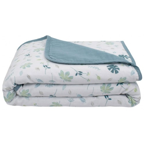 Living Textiles Pram Blanket Banana Leaf