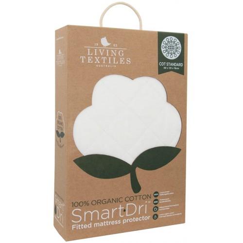 Living Textiles Standard Cot Organic Mattress Protector