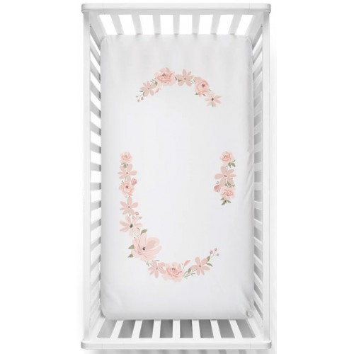 Lolli Living Cot Fitted Sheet Floral Bouquet