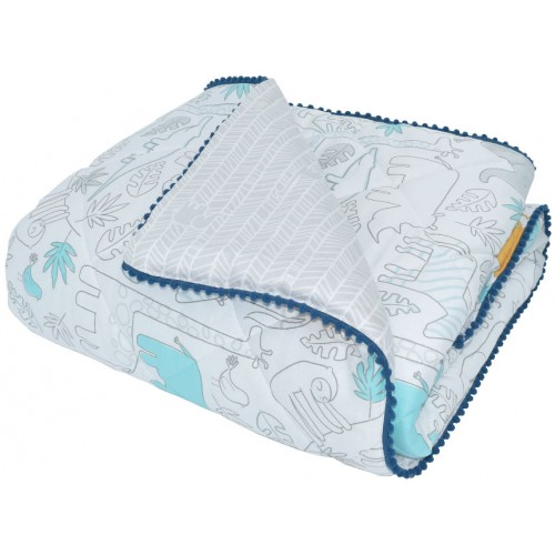 Lolli Living Quilted Cot Comforter Urban Safari