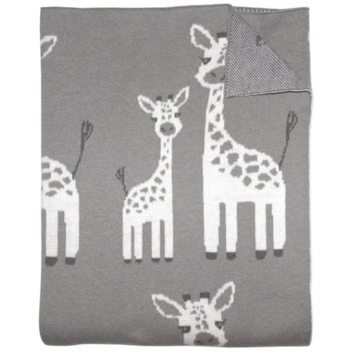 Mister Fly Knitted Blanket Giraffe