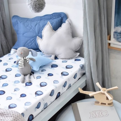 Snuggle Hunny Fitted Cot Sheet Cloud Chaser