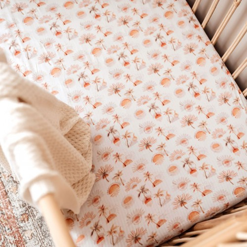 Snuggle Hunny Fitted Cot Sheet Paradise