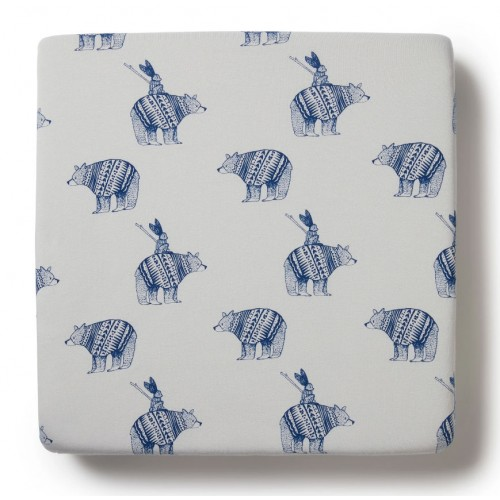 Wilson and Frenchy Cot Sheet Little Adventures