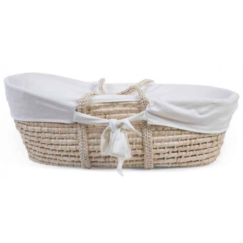 Childhome Moses Basket Jersey Cotton Insert Off White