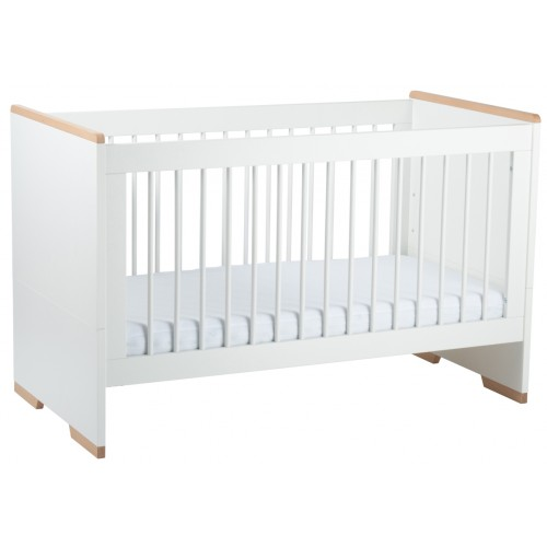 Babyrest Poppy Cot White Beech