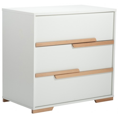 Babyrest Poppy Chest White Beech