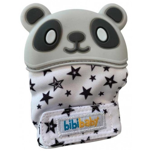 Bibibaby Panda Teething Mitt Grey