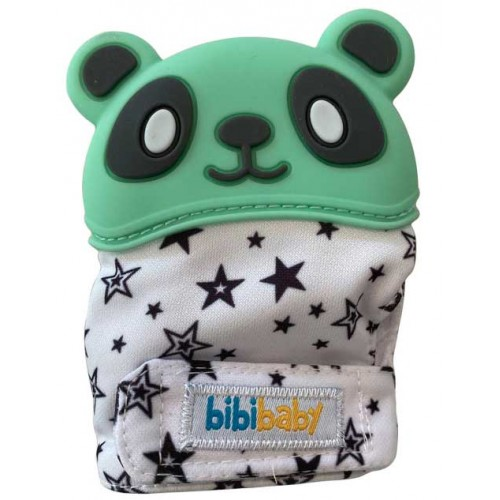 Bibibaby Panda Teething Mitt Mint