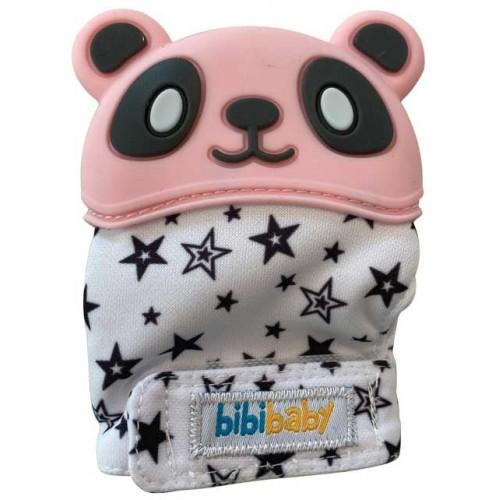 Bibibaby Panda Teething Mitt Pink