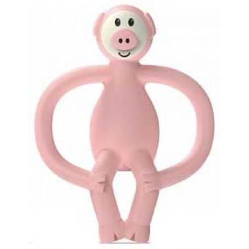 Matchstick Monkey Teether Pig