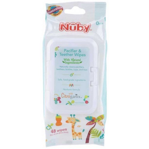 Nuby Citroganix Pacifier and Teether Wipes