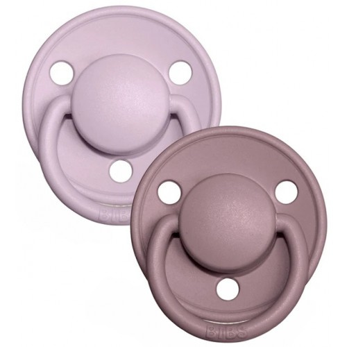 Bibs Delux Pacifier 2 Pack Dusky Lilac Heather