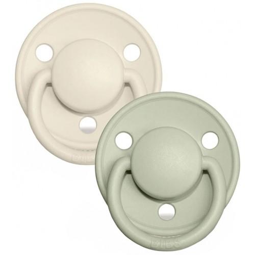Bibs Delux Pacifier 2 Pack Ivory Sage